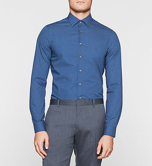 Slim Dress Shirt - NAVY - CALVIN KLEIN SHIRTS - main image