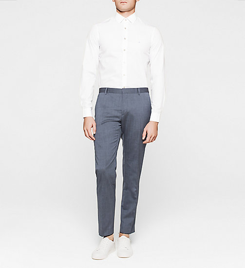 Slim Dress Shirt - BLUE FROST - CALVIN KLEIN  - detail image 1