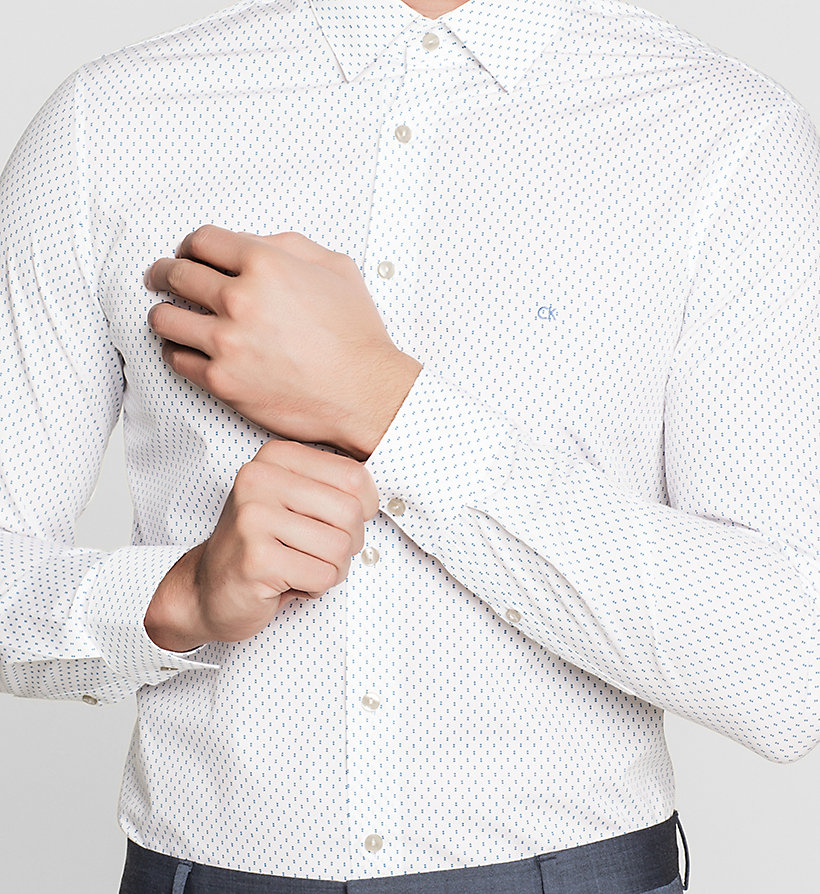 CALVINKLEIN Slim Dress Shirt - BLUE FROST - CALVIN KLEIN CLOTHES - detail image 2
