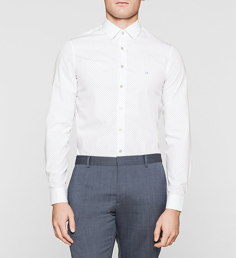 CALVINKLEIN Slim Dress Shirt - BLUE FROST - CALVIN KLEIN CLOTHES - main image