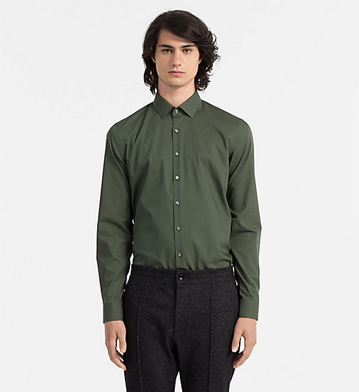 CALVINKLEIN Slim Dress Shirt - REED - CALVIN KLEIN FORMAL SHIRTS - main image