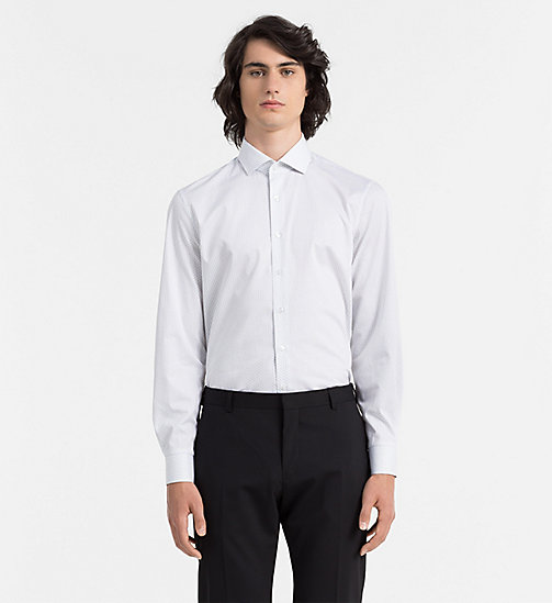 CALVINKLEIN Fitted Dress Shirt - SPRUCE - CALVIN KLEIN FORMAL SHIRTS - main image