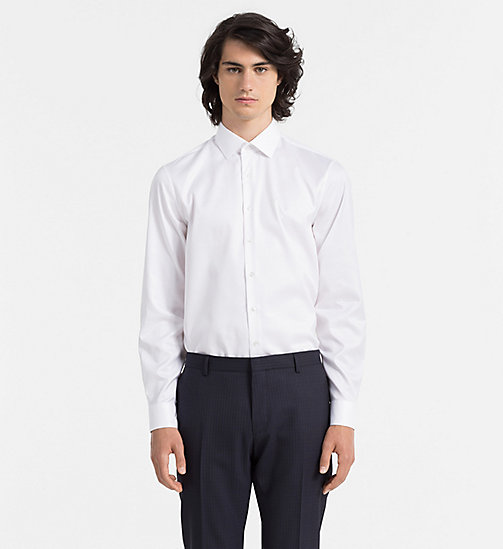 CALVINKLEIN Fitted Dress Shirt - WHITE - CALVIN KLEIN FORMAL SHIRTS - main image