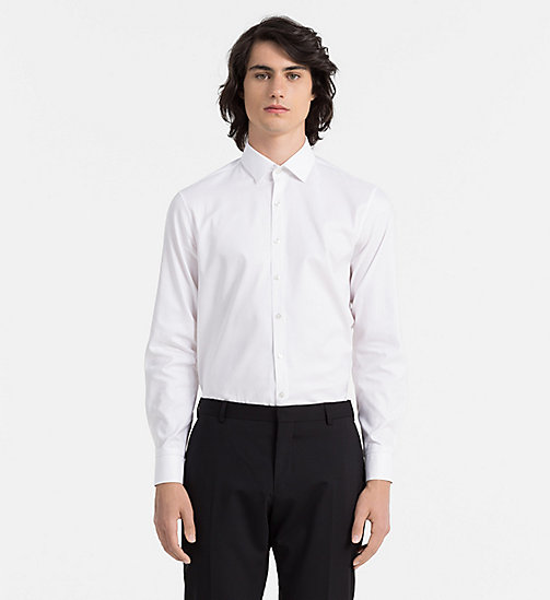 CALVINKLEIN Slim Dress Shirt - WHITE - CALVIN KLEIN FORMAL SHIRTS - main image