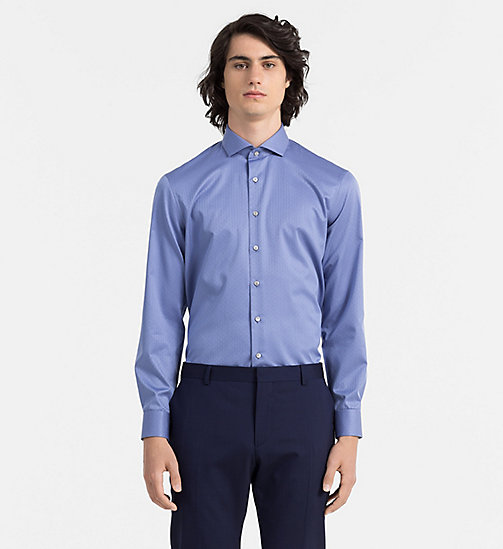CALVINKLEIN Fitted Dress Shirt - DARK NAVY - CALVIN KLEIN FORMAL SHIRTS - main image