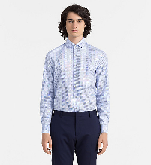 CALVINKLEIN Fitted Dress Shirt - HAZY BLUE - CALVIN KLEIN FORMAL SHIRTS - main image