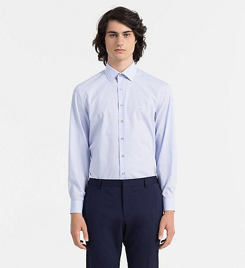 CALVINKLEIN Fitted Dress Shirt - FRENCH BLUE - CALVIN KLEIN FORMAL SHIRTS - main image