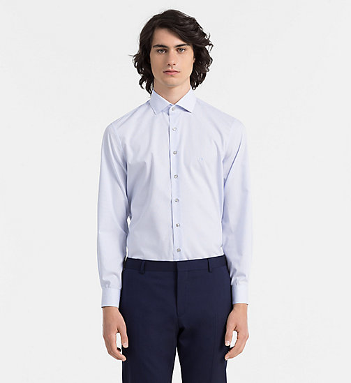 CALVINKLEIN Fitted Dress Shirt - BLUEJAY - CALVIN KLEIN FORMAL SHIRTS - main image
