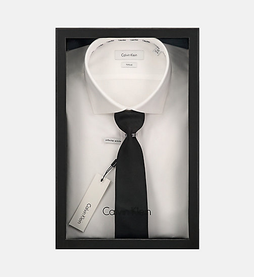 CALVINKLEIN Fitted Dress Shirt - WHITE - CALVIN KLEIN GIFTS FOR HIM - detail image 1