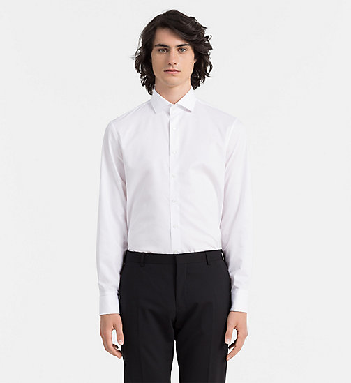 CALVINKLEIN Fitted Dress Shirt - WHITE - CALVIN KLEIN  - main image
