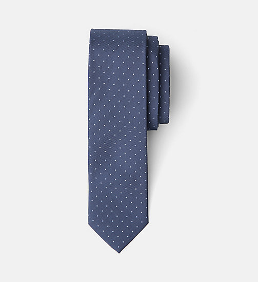 Slim Silk Tie - NAVY - CALVIN KLEIN SHOES & ACCESSORIES - main image