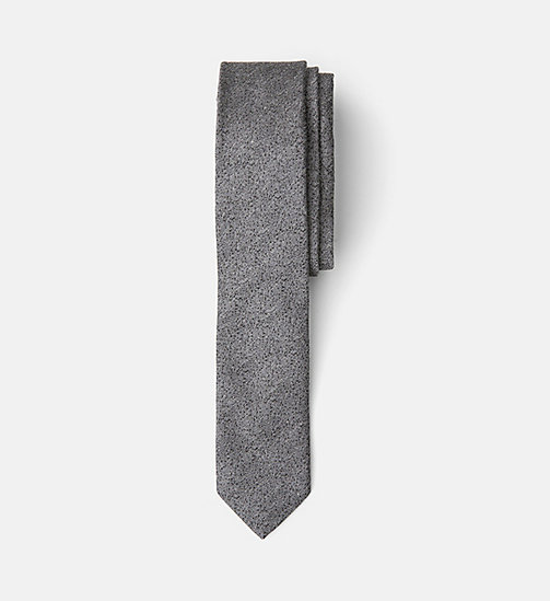 Extra Slim Silk Tie - GREY - CALVIN KLEIN SHOES & ACCESSORIES - main image