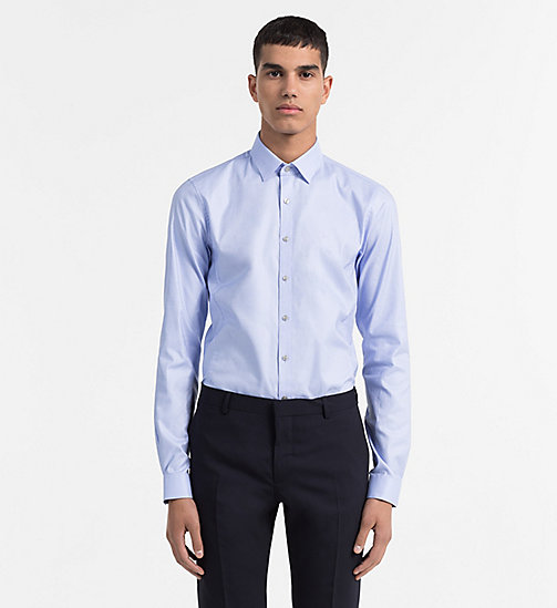CALVINKLEIN Extra Slim Dress Shirt - BLUE CLOUD - CALVIN KLEIN FORMAL SHIRTS - main image