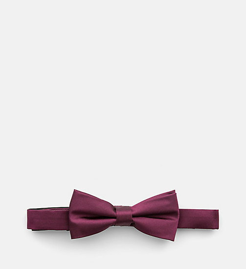 Silk Bow Tie - MERLOT - CALVIN KLEIN SHOES & ACCESSORIES - main image