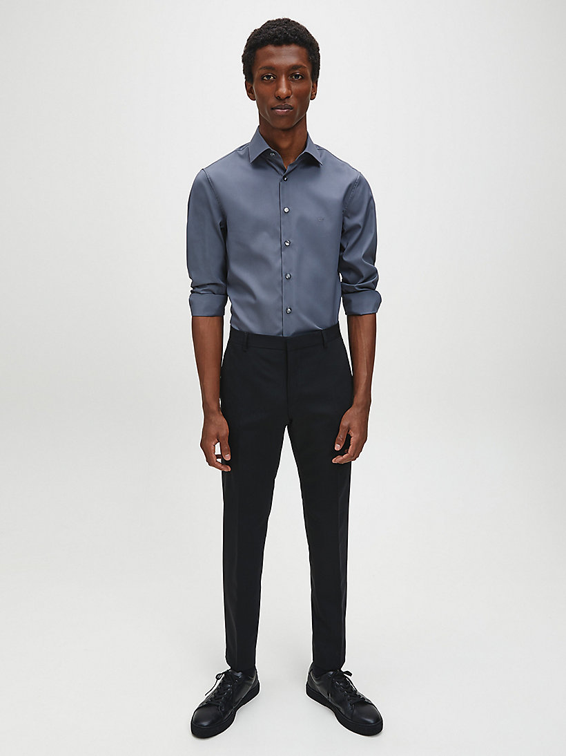 CALVINKLEIN Fitted Dress Shirt - CHARCOAL - CALVIN KLEIN SHIRTS - detail image 1