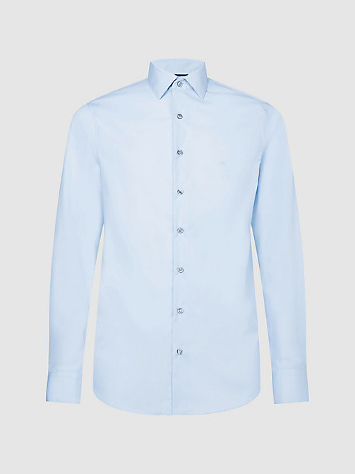 CALVINKLEIN Fitted Dress Shirt - SOFT BLUE - CALVIN KLEIN FORMAL SHIRTS - main image