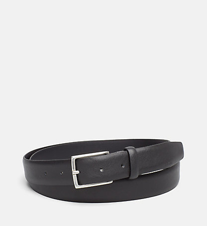 CALVIN KLEIN Slim Saffiano Leather Belt - Justin K50K500447001