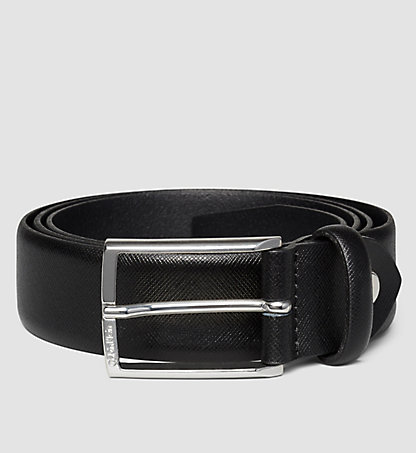 CALVIN KLEIN Leather Belt - Justin Saffiano K50K500470001