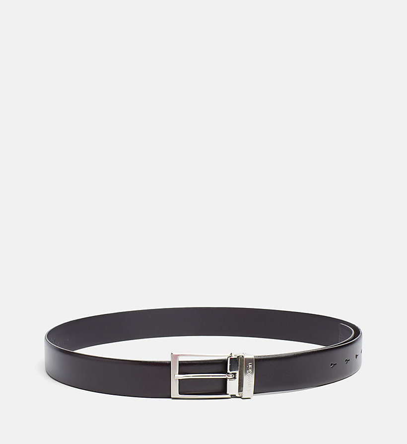 CALVINKLEIN Leather Belt in Gift Box - BLACK - CALVIN KLEIN SHOES & ACCESSORIES - detail image 1