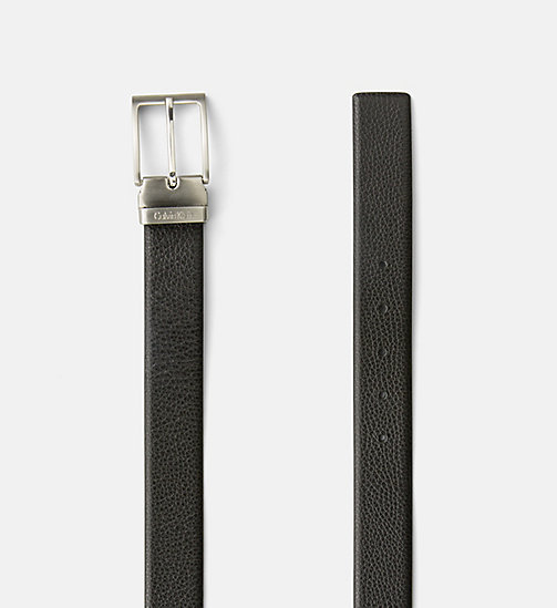 CALVINKLEIN Pebbled Leather Belt - BLACK - CALVIN KLEIN BELTS - detail image 1