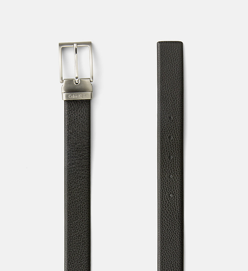CALVINKLEIN Pebbled Leather Belt - BLACK - CALVIN KLEIN SHOES & ACCESSORIES - detail image 1