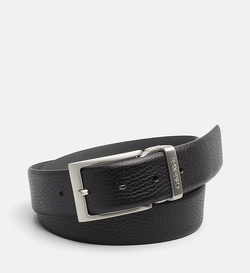 CALVINKLEIN Pebbled Leather Belt - BLACK - CALVIN KLEIN SHOES & ACCESSORIES - main image