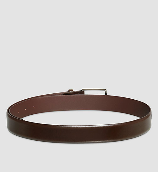 Smooth Leather Belt - BROWN - CALVIN KLEIN SHOES & ACCESSORIES - detail image 1