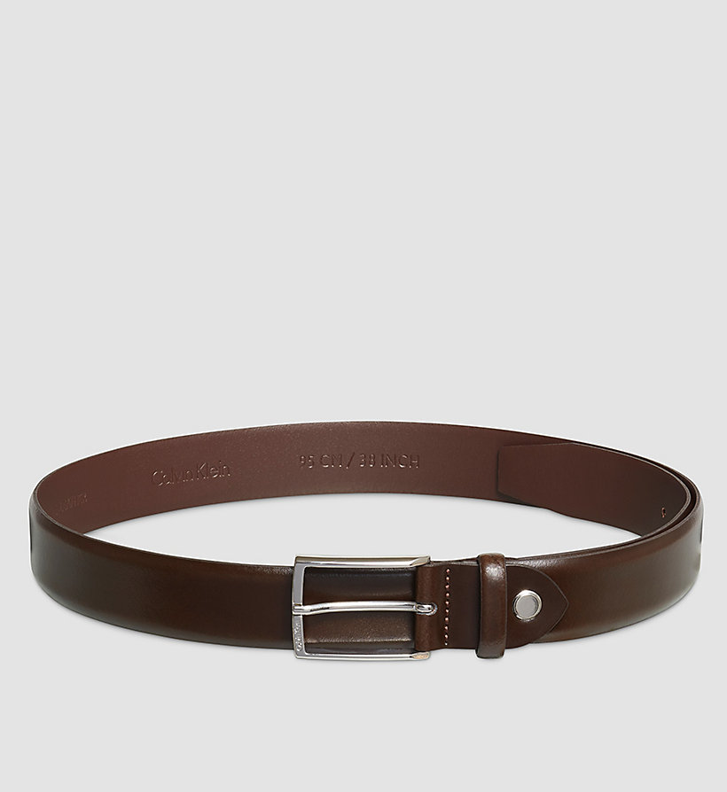 CALVINKLEIN Smooth Leather Belt - BROWN - CALVIN KLEIN SHOES & ACCESSORIES - main image