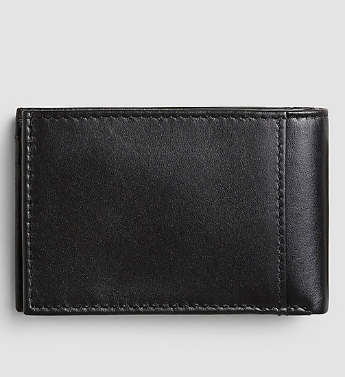 CALVIN KLEIN JEANS Leather Wallet - BLACK - CALVIN KLEIN JEANS GIFTS FOR HIM - detail image 1
