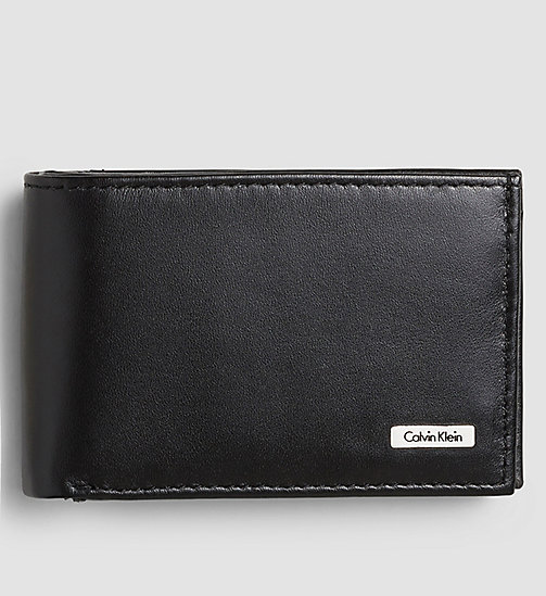 CALVIN KLEIN JEANS Leather Wallet - BLACK - CALVIN KLEIN JEANS GIFTS FOR HIM - main image