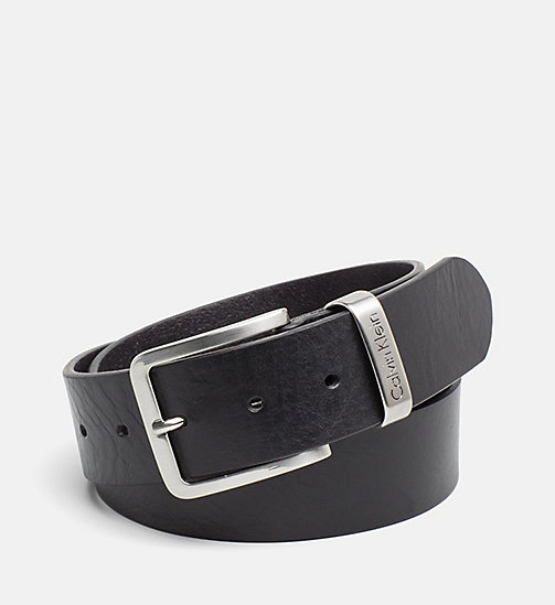CALVIN KLEIN JEANS Leather Belt - BLACK - CALVIN KLEIN JEANS GIFTS FOR HIM - main image