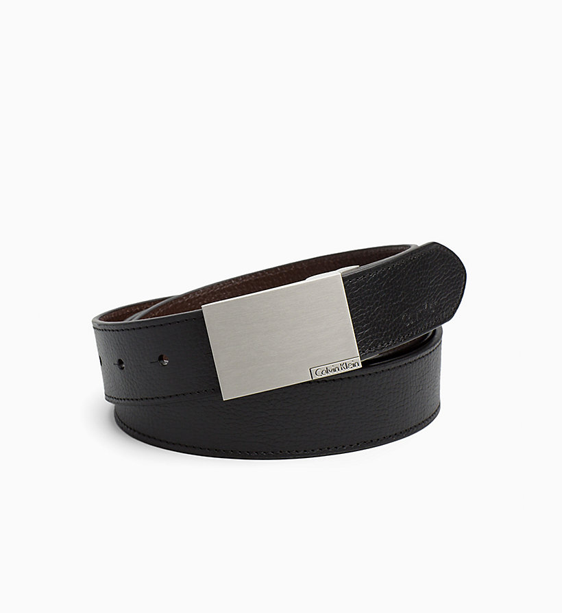CKJEANS Leather Belt in Gift Box - BLACK - CK JEANS SHOES & ACCESSORIES - detail image 2