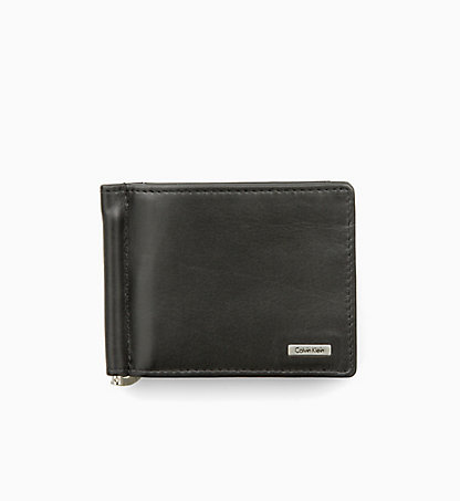 CALVIN KLEIN JEANS Leather Money Clip Wallet - Rail K50K500724001