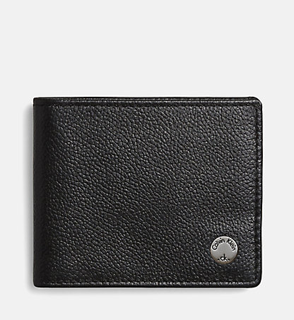 CALVIN KLEIN JEANS Leather Slimfold Wallet - Seal K50K500727001