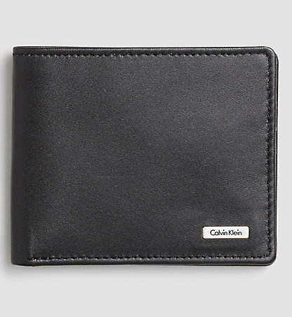 CALVIN KLEIN JEANS Leather Slimfold Wallet - Rail K50K500734001