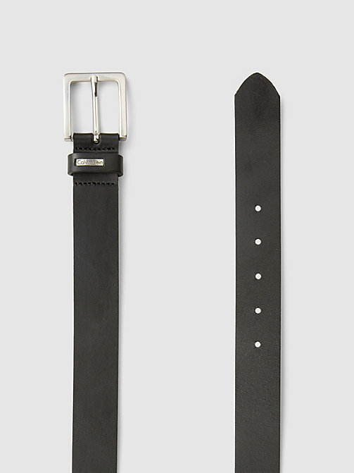 CALVIN KLEIN JEANS Leather Belt - BLACK - CALVIN KLEIN JEANS GIFTS FOR HIM - detail image 1