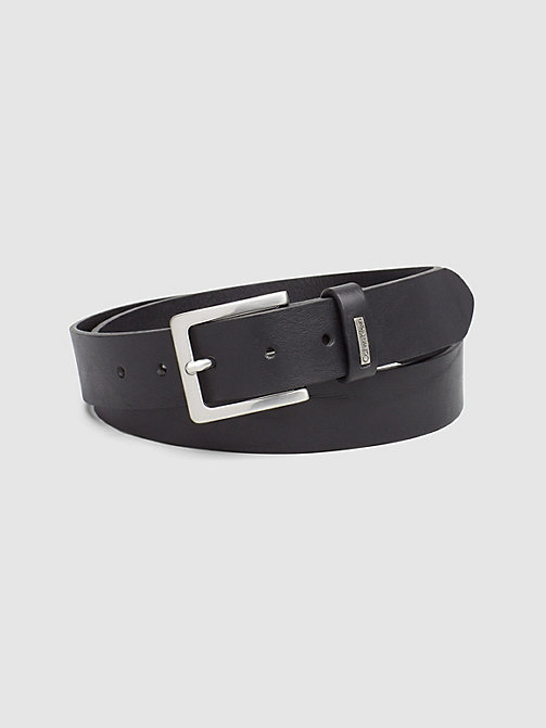 CKJEANS Leather Belt - BLACK - CK JEANS BELTS - main image