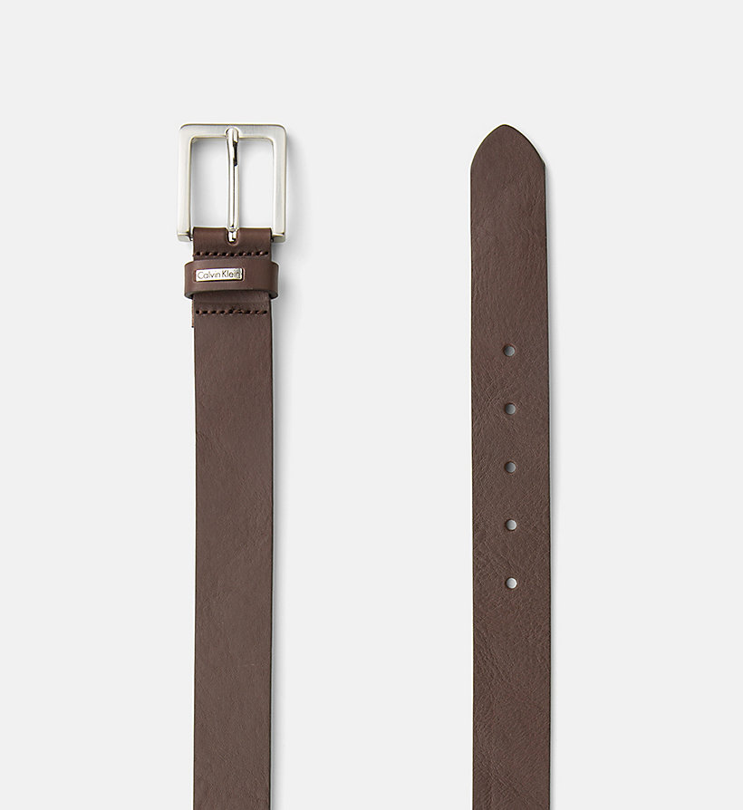 CKJEANS Leather Belt - BROWN - CK JEANS SHOES & ACCESSORIES - detail image 1