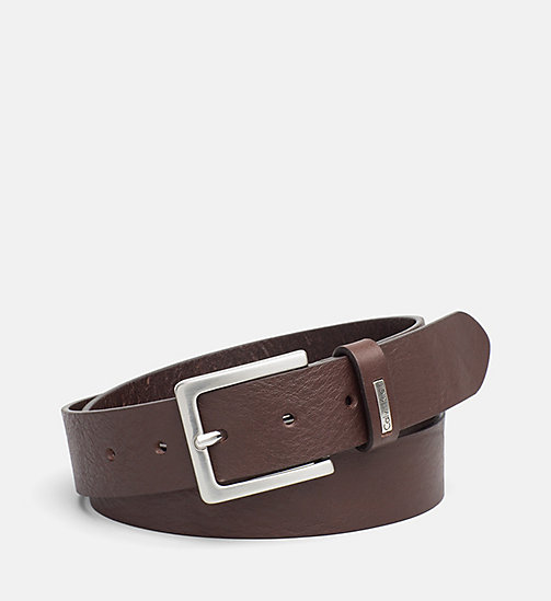 CALVIN KLEIN JEANS Leather Belt - BROWN - CALVIN KLEIN JEANS BELTS - main image
