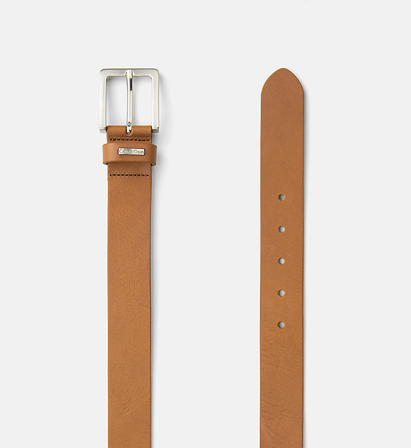 CKJEANS Leather Belt - CONGNAC - CK JEANS SHOES & ACCESSORIES - detail image 1