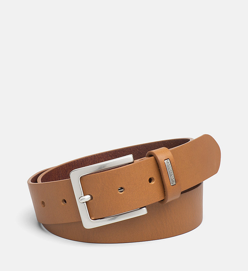 CKJEANS Leather Belt - CONGNAC - CK JEANS SHOES & ACCESSORIES - main image