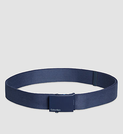 CALVIN KLEIN Canvas Plaque Belt K50K500972000