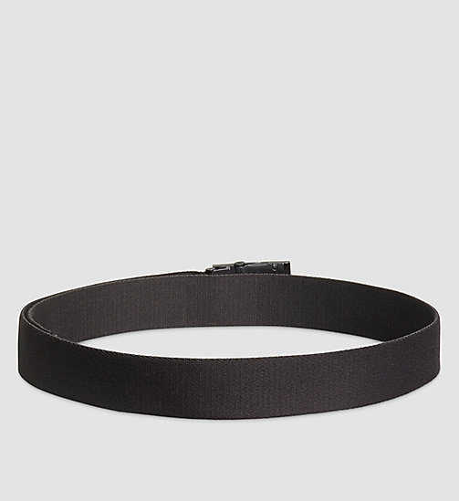 Canvas Plaque Belt - BLACK - CALVIN KLEIN  - detail image 1