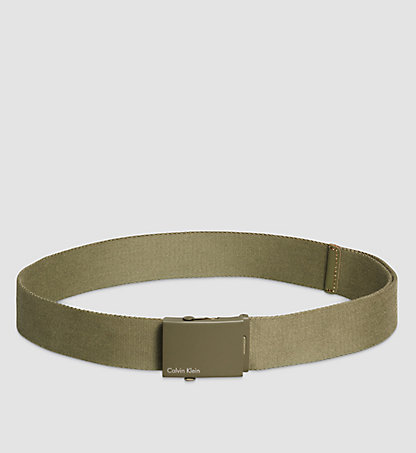 CALVIN KLEIN Canvas Plaque Belt K50K500972313