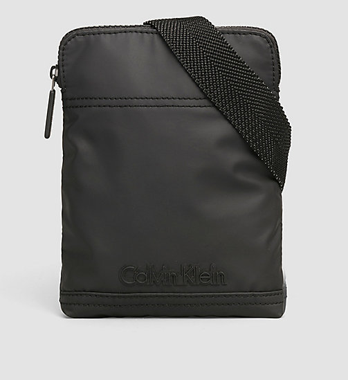 CALVINKLEIN Mini Flat Crossover Bag - BLACK - CALVIN KLEIN  - main image