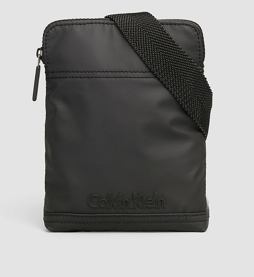 CALVINKLEIN Mini Flat Crossover Bag - BLACK - CALVIN KLEIN SHOES & ACCESSORIES - main image