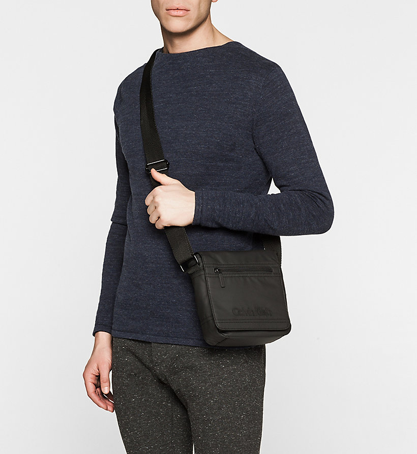 CALVINKLEIN Flap Reporter Bag - BLACK - CALVIN KLEIN SHOES & ACCESSORIES - detail image 1