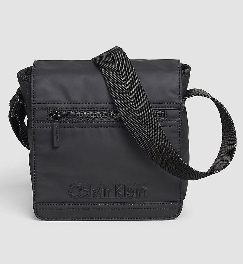 CALVINKLEIN Flap Reporter Bag - BLACK - CALVIN KLEIN SHOES & ACCESSORIES - main image