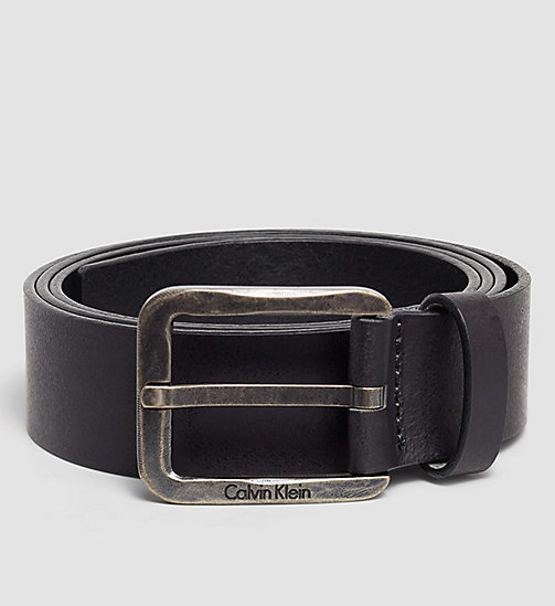 Leather Belt - BLACK - CALVIN KLEIN  - main image