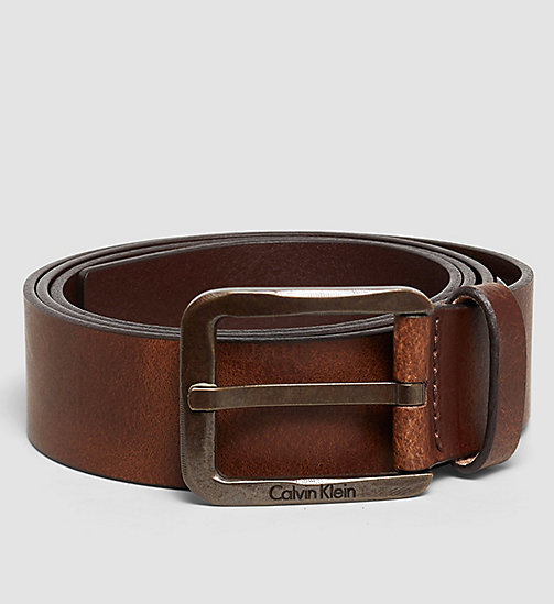 CALVINKLEIN Leather Belt - COGNAC - CALVIN KLEIN BELTS - main image